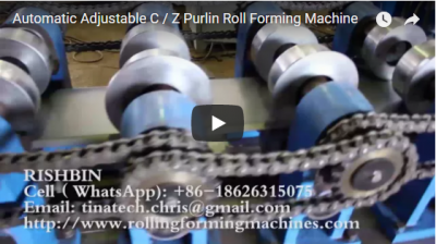 Automatic Adjustable C / Z Purlin Roll Forming Machine