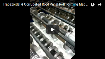 Trapezoidal & Corrugated Roof Panel Roll Forming Machine